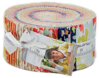 """Last One - Coney Island Jelly Roll by Fig Tree Quilts for Moda - Joanna Figueroa -2.5"""" Strips - Jelly Rolls - Precuts - 100% Cotton"""