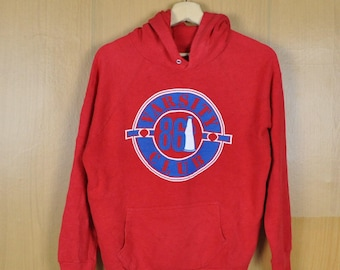 Vintage Sweater Hoodie Varsity Club Red Color Hooded Sweatshirt Nice Shirt