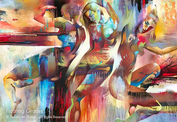 Figures Abstract Figure Art Modern Figure Painting-5457