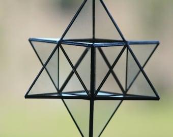 Merkaba Stained glass Sacred geometry Star tetrahedro