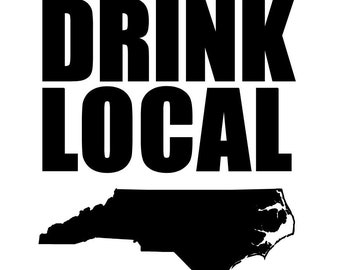 Drink Local NC Decal