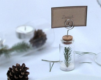 The place cards test-tube
