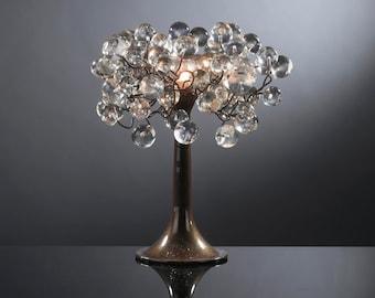 Transparent Clear Table lamp, desk lamp, bedside lamp with metal wires, desk lamp with clear bubbles lighter.