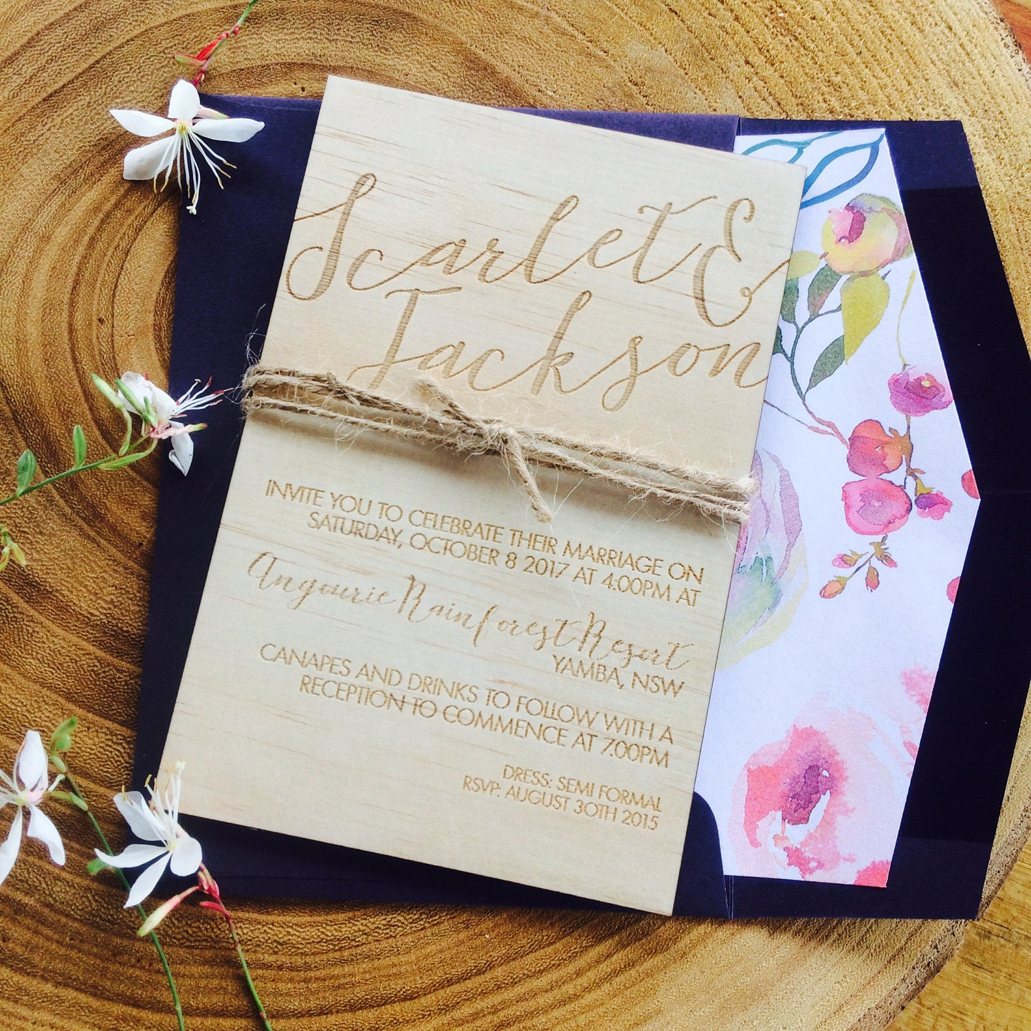 wooden wedding invitation limited edition wood invitation and