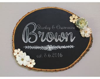 Wedding Head Table Center Piece, Bride and Groom, Mr and Mrs, Wood Sign, Rustic Wedding, Wedding Decor, Rustic Sign, Chalk Wood Sign