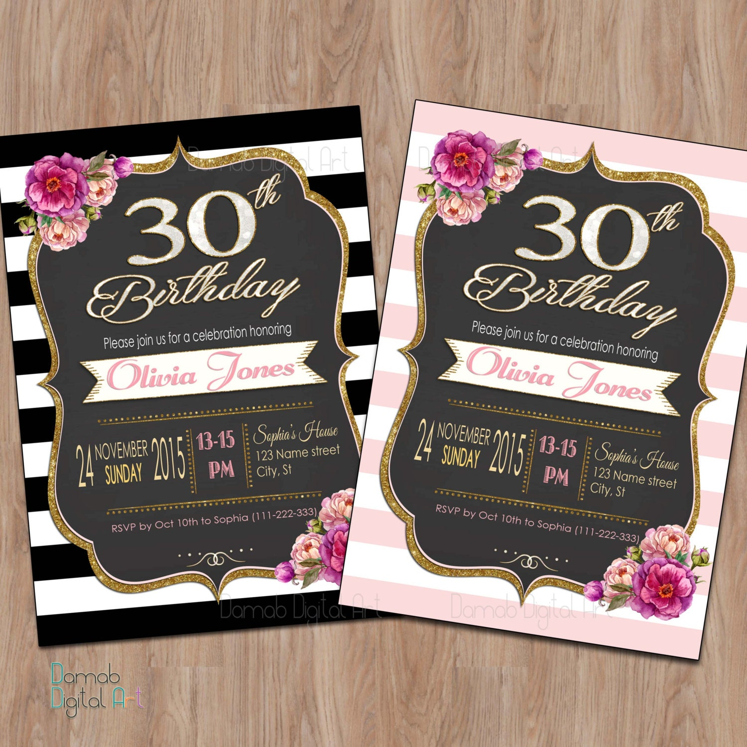 30th birthday invitation 30th birthday invitation for women for 30th birthday decoration packages