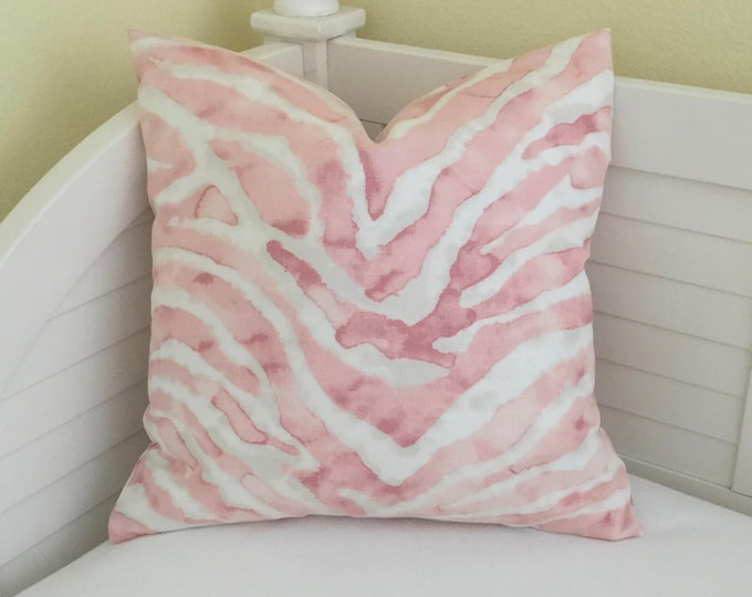 Blush Petal Pink Animal Print Designer Pillow Cover on Both Sides - Square, Euro and Lumbar Sizes