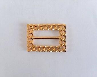 Vintage Belt Buckle, Fashion Belt Buckle, Gold Tone Buckle