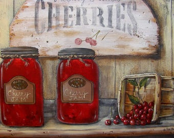 Cherry Jam 16x12 Print from My Original