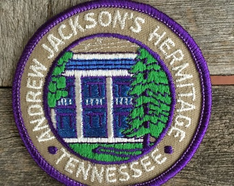 Andrew Jackson's Hermitage Tennessee Vintage Souvenir Travel Patch by Trailblazer Emblems