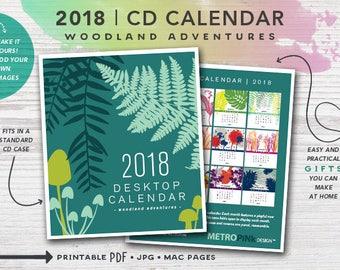 2018 PRINTABLE CD Case Calendar - Woodland Adventures