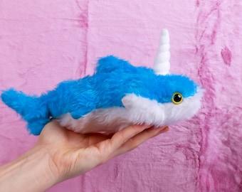 Sharky Unicorn shark handmade softtoy plush toy
