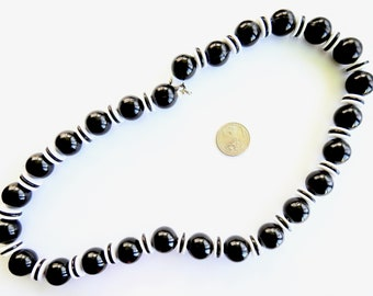 Black and White Modernist Lucite Necklace