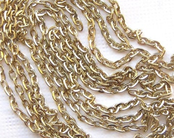 """18 Karat Gold Plated Chain 1 Pc 