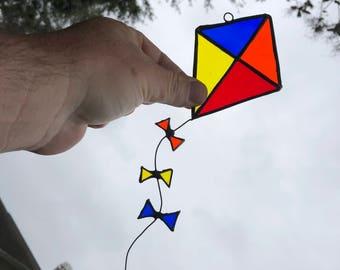 Whimsical Kite Suncatcher / Ornament