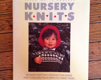 Vintage 1987 Nursery Knits Knitting Pattern Book Tessa Watts-Russell