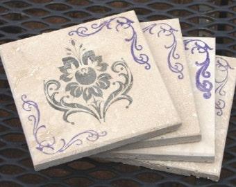 Classic Flower Coasters-Set of 4 Coasters