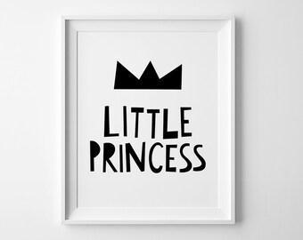 Little princess, wall art decor, Mini learners nursery art, affiche scandinave, baby girl nursery print, playroom wall art, nursery decor