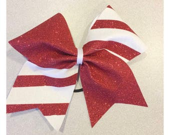 Custom Candy Cane Bows