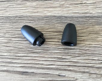 Plastic black safety clasp for jewelry