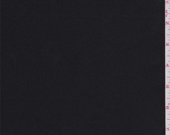 Tuxedo Black Foil Twill, Fabric By The Yard