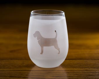 Beagle Stemless Wine Glass Set | Birthday Gift for Dog Lover  |  Housewarming Present |  Wine Drinker Gift  |  Customizable Glassware