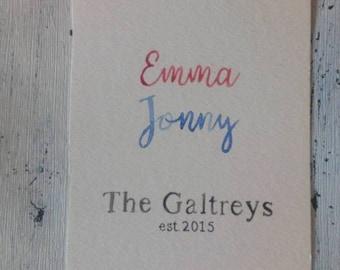 Family Name Print