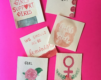 girl power lunch notes set