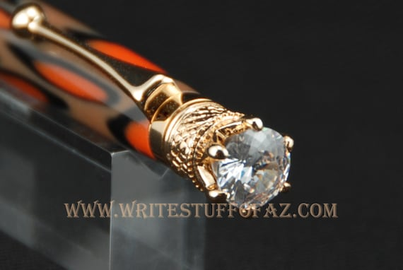 Mother's Day Animal Print (Leopard and Tiger) Twist Pen, Adorned with Swarovski Crystal