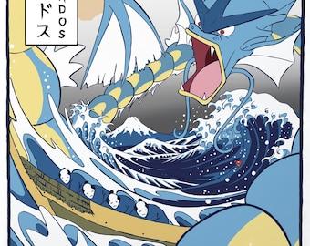 Great Wave Gyarados - Poster Print