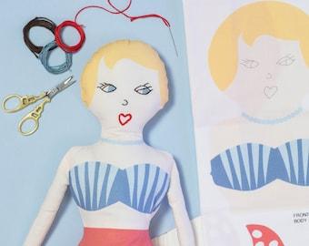 Mermaid Craft Kit for Kids - Make Your Own Kit - Sew Your Own - Beginner Sewing Kit - Mermaid Doll - Craft Kit for Girls - Soft Toys