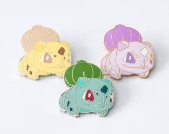 Bulbasaur Plush pin - Pokemon pin hard enamel