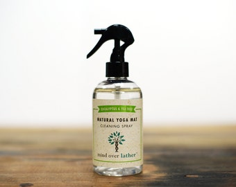 Eucalyptus & Tea Tree Natural Yoga Mat Spray Cleaner, 8oz
