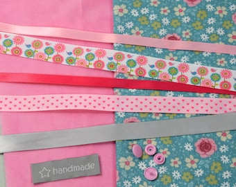 "KIT to sew ""taggy"" birthday gift - DIY - sewing kit"