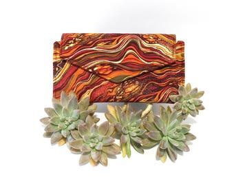 Long Wallet for Women - Ladies Wallet with Coin Pocket - Fabric Bifold Wallet - vegan clutch wallet - card holder wallet - smartphone wallet