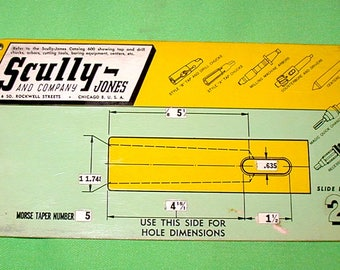 Scully-Jones selector # 2 mortis taper slide guide vintage machine shop collectible rare find precision tools drill press milling machine