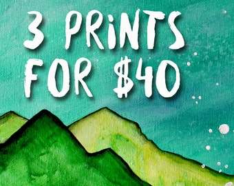 ANY 3 8x10 Prints for 40 - Combo Deal - Art by Marcia Furman