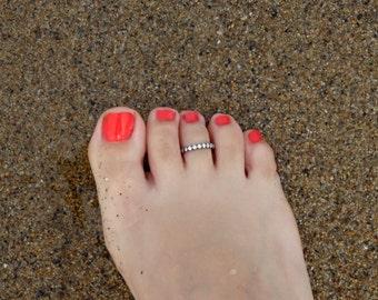 Toe ring sterling silver, Toe ring, Sterling silver toe ring, Silver toe ring, Open toe ring, Foot Jewelry, Summer jewelry, Fine jewelry