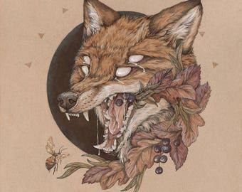 Sunt Lacrimae Rerum - 8 x 10 fox fine art print