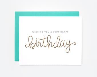 Wishing You a Very Happy Birthday Greeting Card