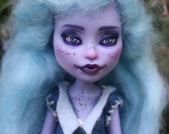 Monster High ooak dream-blue, doll repaint