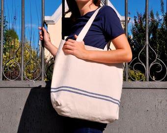 Linen Bag, Tote Linen, Boho Bag, Beach Bag, Casual Tote Bag, Day Bag, Summer Tote, Hobo Tote, Linen Tote Bag, Linen bag, boho