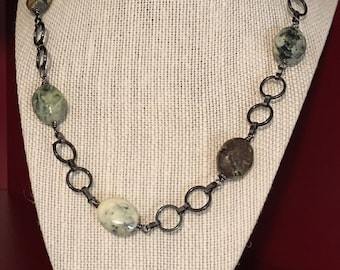 Earth colored bead necklace