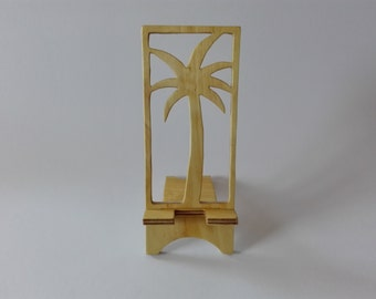 Wooden phone stand Palma, Phone holder for smartphone, Phone docking station, iPhone stand, Charging Station