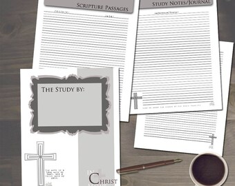 Bible Study Notes 7 page PDF Set - Custom - Journal Pages - Scripture Pages - Study Notes - Speaker Notes - Topical Study