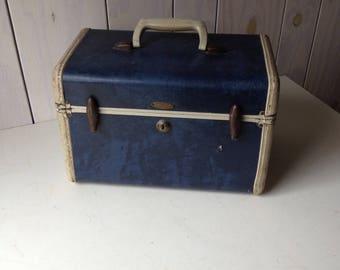 Navy Train Case, Train Case, Navy Case, Navy, Case, Travel Case, Luggage Case