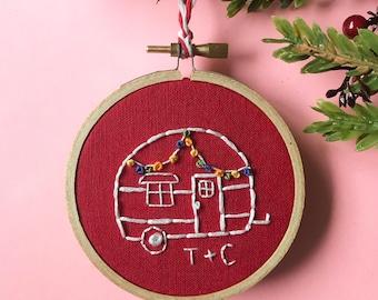 Christmas camper ornament