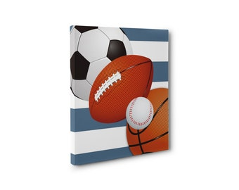 Sports CANVAS Wall Art Print, Sports Bathroom Print, Canvas, HIGH QUALITY,  Bedroom