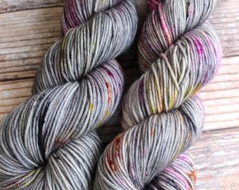 Amelia - Dark Magic - Hand Dyed Yarn - 100% Superwash Merino DK
