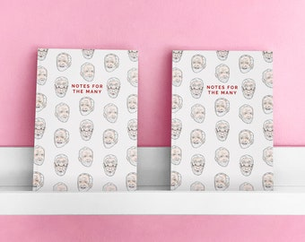 Jeremy Corbyn Notebook   A5 Lined Pages   Luxury Notepad